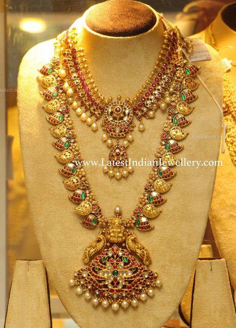 Kundan Necklace And Mango Haram Indian Gold Jewellery
