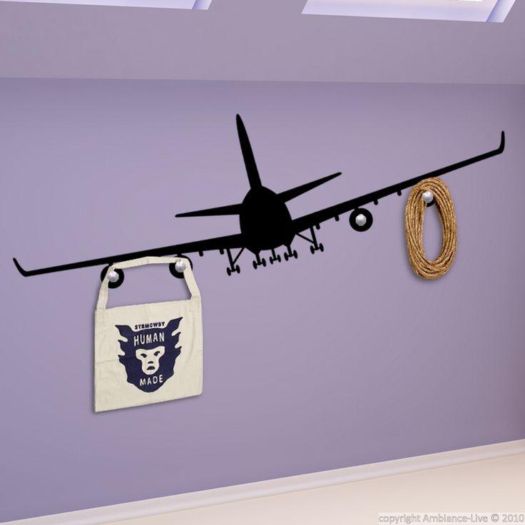 Stickers Portes Manteaux - Sticker mural Avion volant | Ambiance-live.com