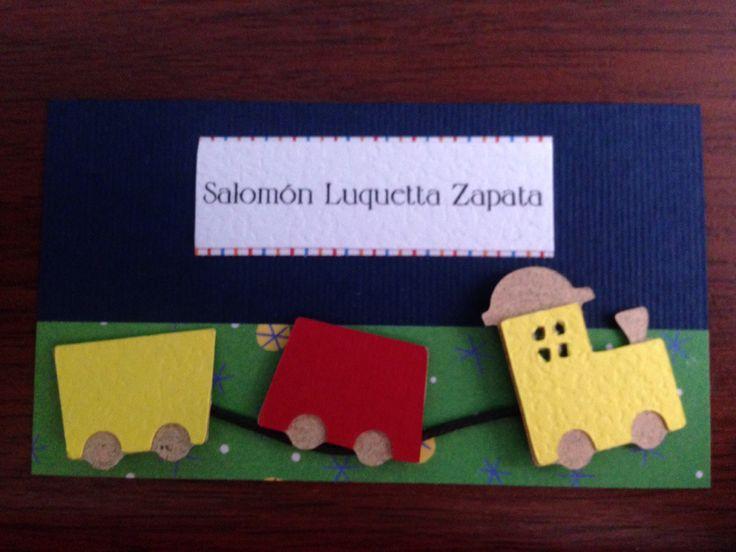 Tarjetas Personales Niños #kids #baby #scrapbook #colorscrap #card #gift