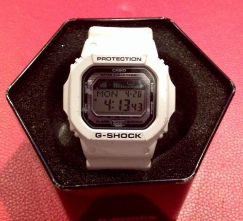 white g shock watch