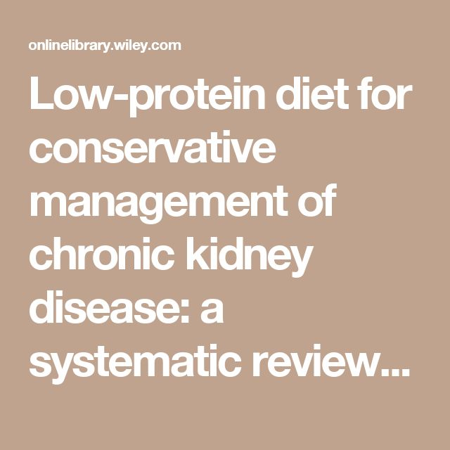 Diet in Chronic Kidney Disease