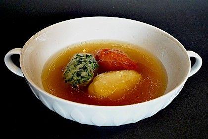 Dreierlei Klößchen als Suppeneinlage 1