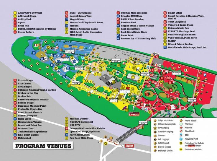 Festival de Sziget mapa