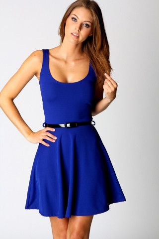 like this scoop neck, fitted figure, and the bright bold color.