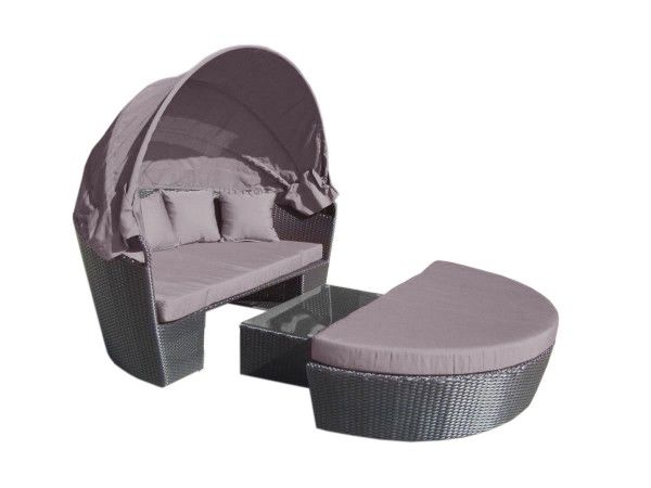 Caspian Day Bed with Charcoal Cushions.