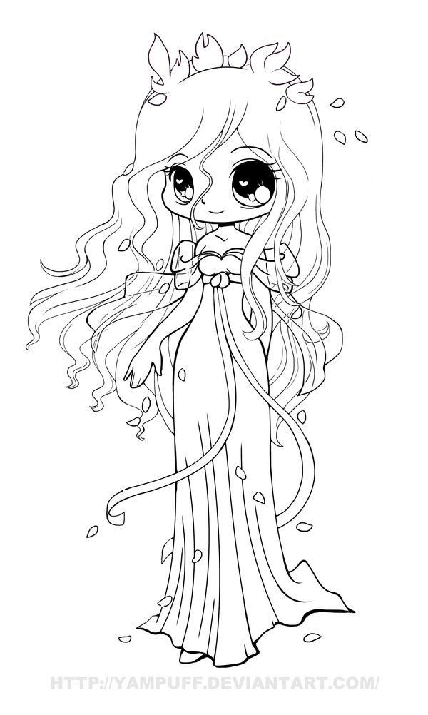 Cute Anime Coloring Pages Part 7 - Anime Chibi Girl Coloring Pages
