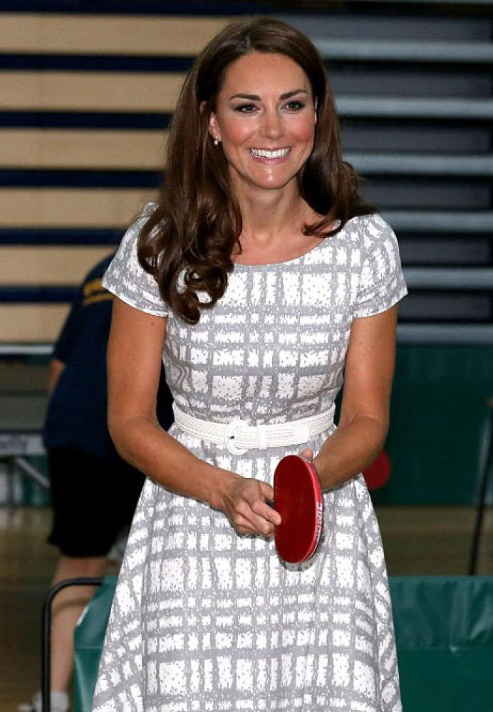 Kate Middleton Dons Body-Hugging Dress While Playing Table Tennis At Pre-Olympic Event