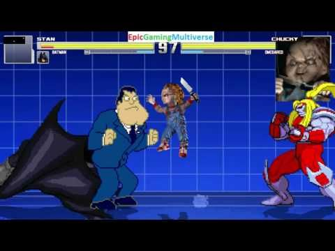 Batman And Stan Smith VS Chucky The Killer Doll And Omega Red In A MUGEN Match / Battle / Fight This video showcases Gameplay of Chucky The Killer Doll From The Child's Play Series And Omega Red The Supervillain VS Stan Smith From The American Dad! Series And Batman The Superhero In A MUGEN Match / Battle / Fight