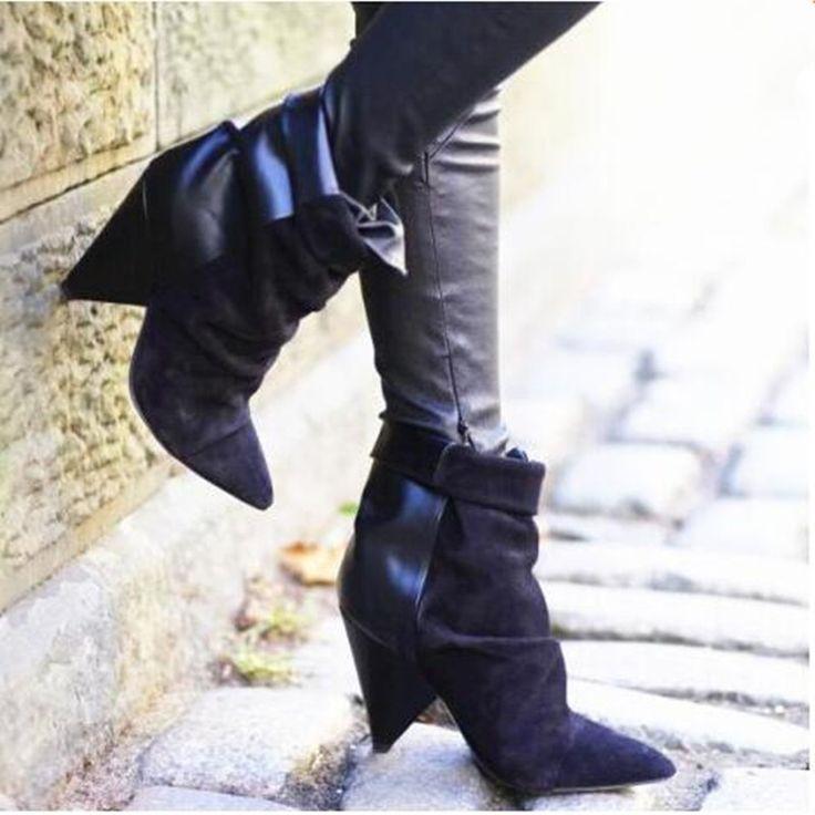Goedkope 2016 kleding isable vallen wig schoenen voor vrouwen chunky hakken laarzen andrew suède en leer enkellaars zwart merk laarzen vrouwen, koop Kwaliteit vrouwen laarzen rechtstreeks van Leveranciers van China: van harte welkom om onze winkelje kunt mixen het even welkemerken,kleurenenmaten.Groothandel en dropshipping