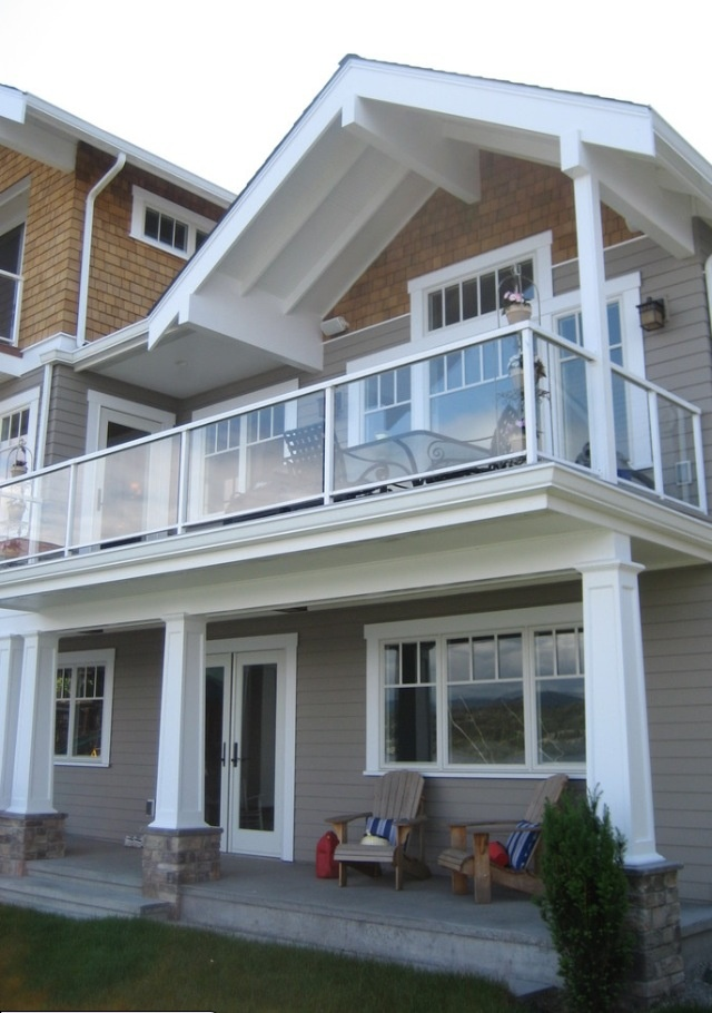 Deck Glass And White Rail Modern Homes Pinterest