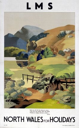 'North Wales for Holidays', LMS poster, 1923-1947., Sparrow, Clodagh