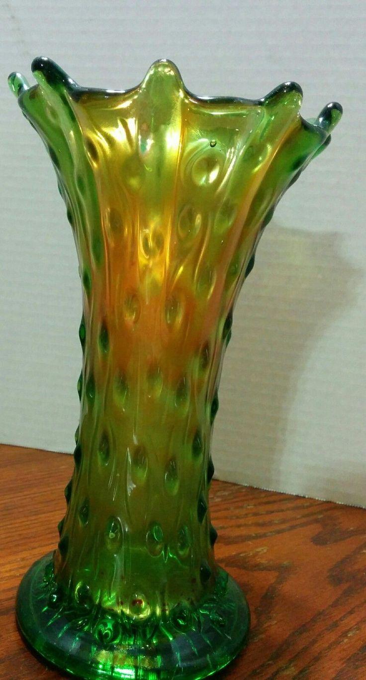 73 best northwood glass images on pinterest carnival glass vase vintage northwood alaska green gold tree trunk carnival glass swung vase 8 reviewsmspy
