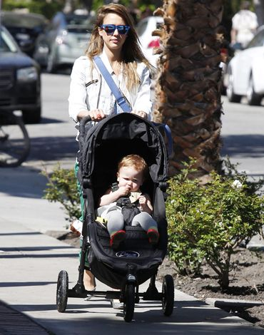 Jessica Alba Was Seen Strolling With Baby Honor Through
