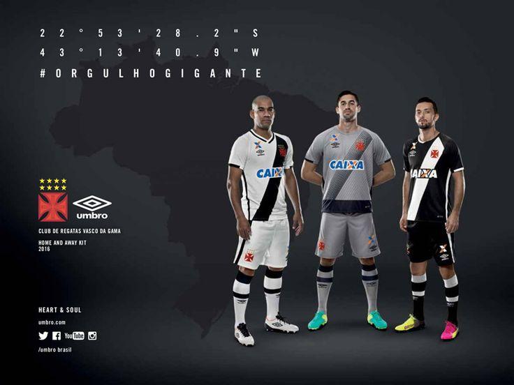 Camisas do Vasco da Gama 2016-2017 Umbro