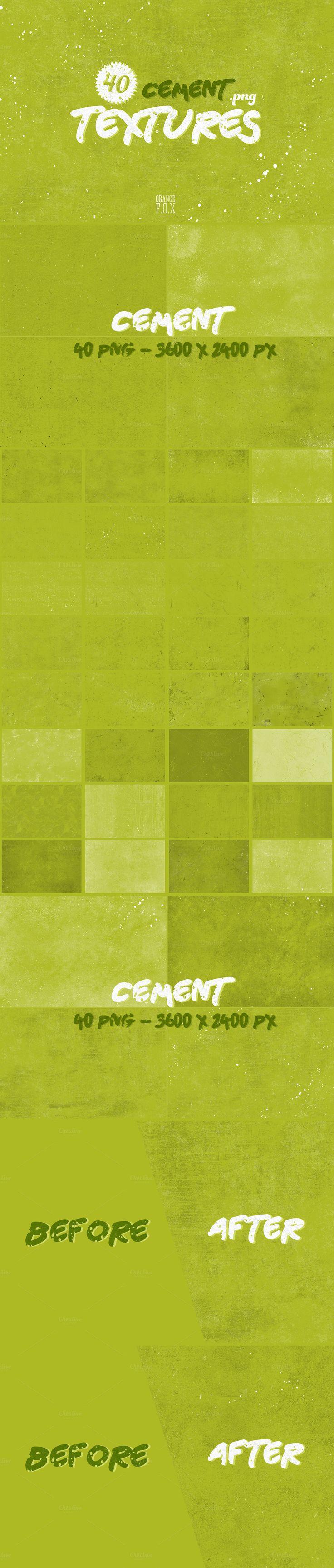 40 Cement Textures by OrangeFox on @creativemarket  #cement  #concrete #textures #grunge #subtle #texture #asphalt #street  #grunge  #noise #grain #vintage #authentic #weathered #distressed #cement #concrete #street #sidewalk #graffiti #wall