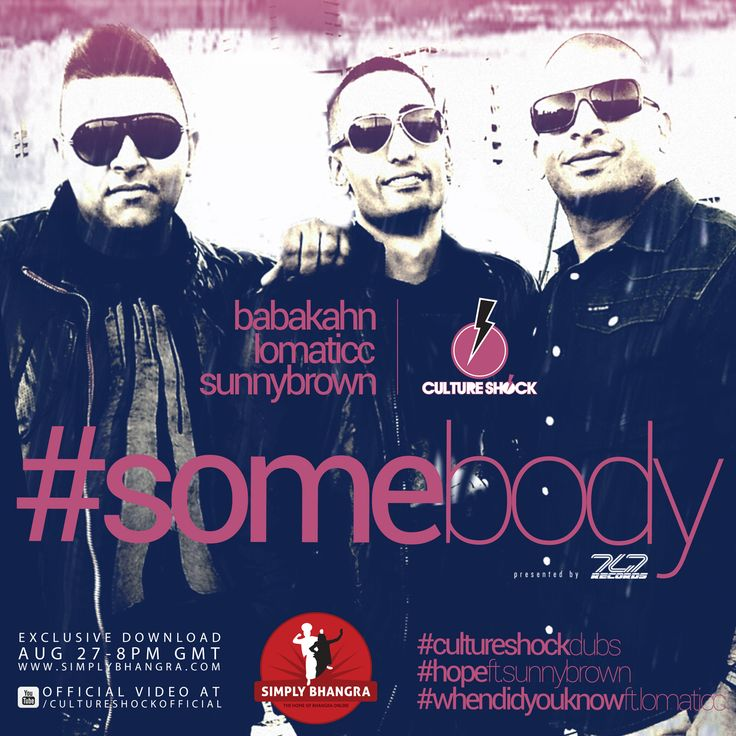 Final #cultureshocksub #somebody releasing aug 27 8pm GMT as an exclusive download only at www.simplybhangra.com #getready for the new single #raiseyourhands