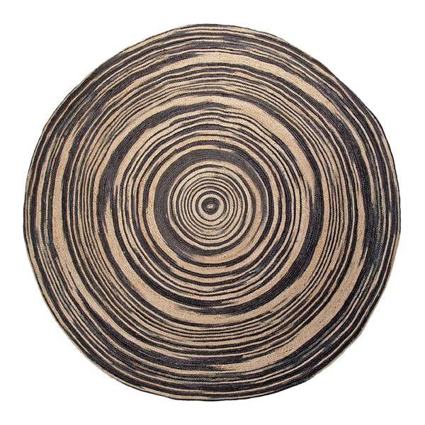 HK Living Tapis rond toile de jute - naturel noir - Ø200cm -200€