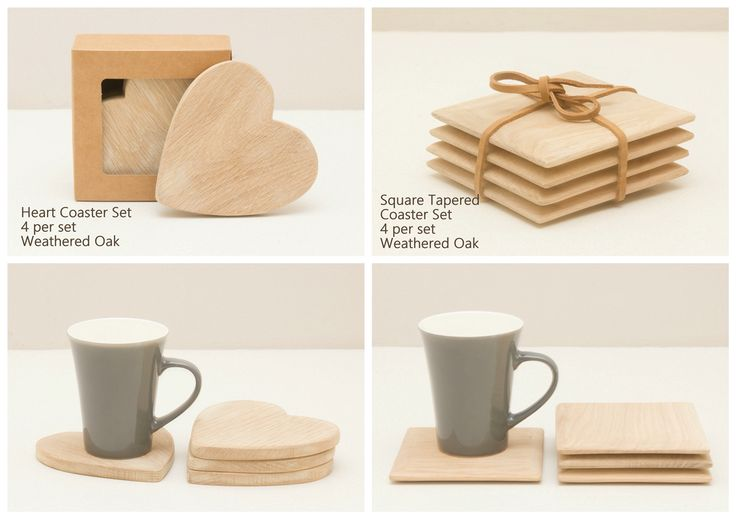 Oak Coasters available in a set of 4