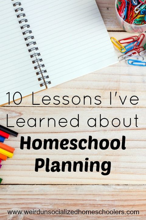 Over the past 14 years, I've learned some lessons about homeschool planning. Take advantage of my lessons learned as you plan the upcoming school year.