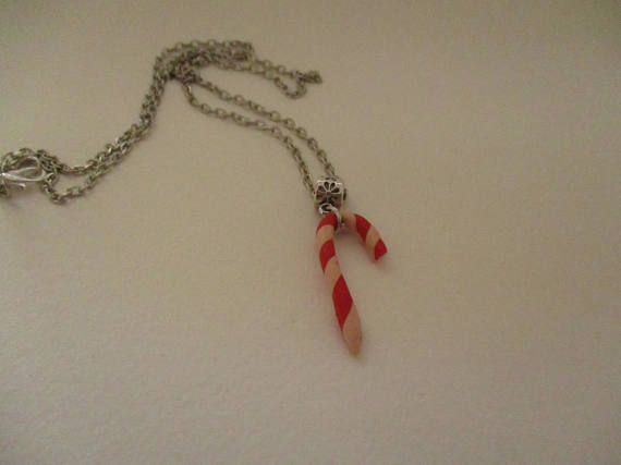 candy cane necklace Christmas necklace Christmas gifts