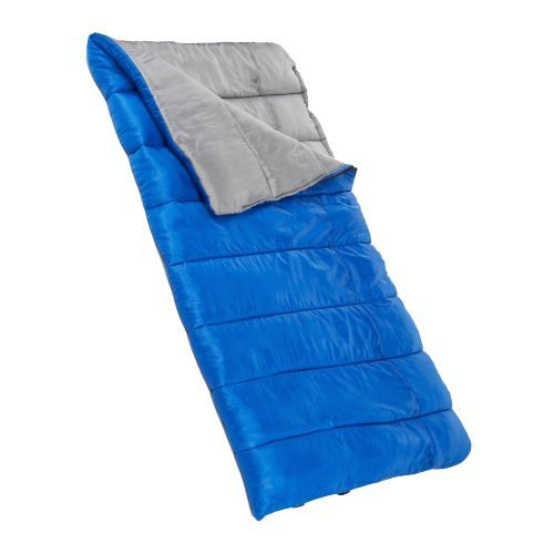 Timber Creek 3 lb. Sleeping Bag - $9.99 - This is a very basic sleeping bag that is suitable for warm weather camping here in Texas.  This is not suitable for any sort of cold weather camping, so don't take it to the mountains.