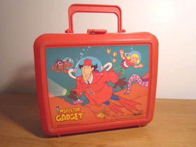 VINTAGE & RARE 1983 INSPECTOR GADGET PLASTIC ALADDIN LUNCH BOX 1980'S #ALADDIN