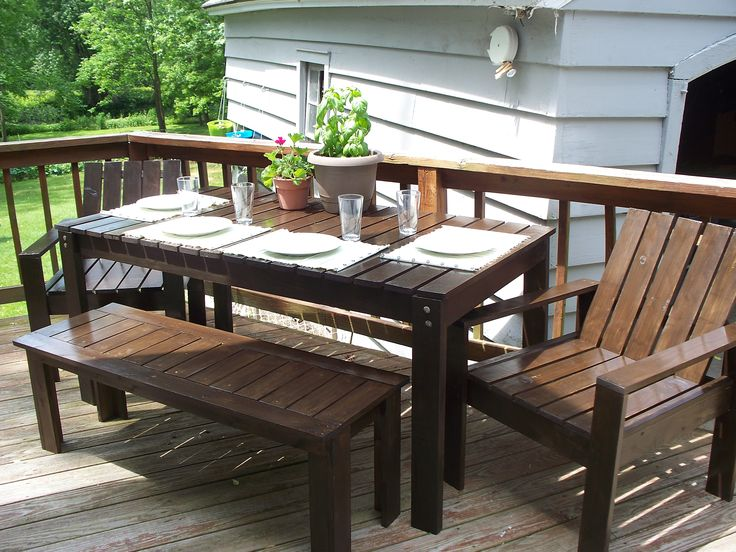 Pin by angie kennedy on home projects pinterest dining for Pinterest diy outdoor furniture