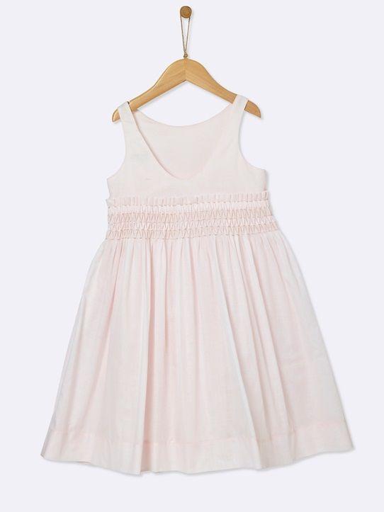 GIRL'S SMOCKED BRIDESMAID DRESS PALE PINK