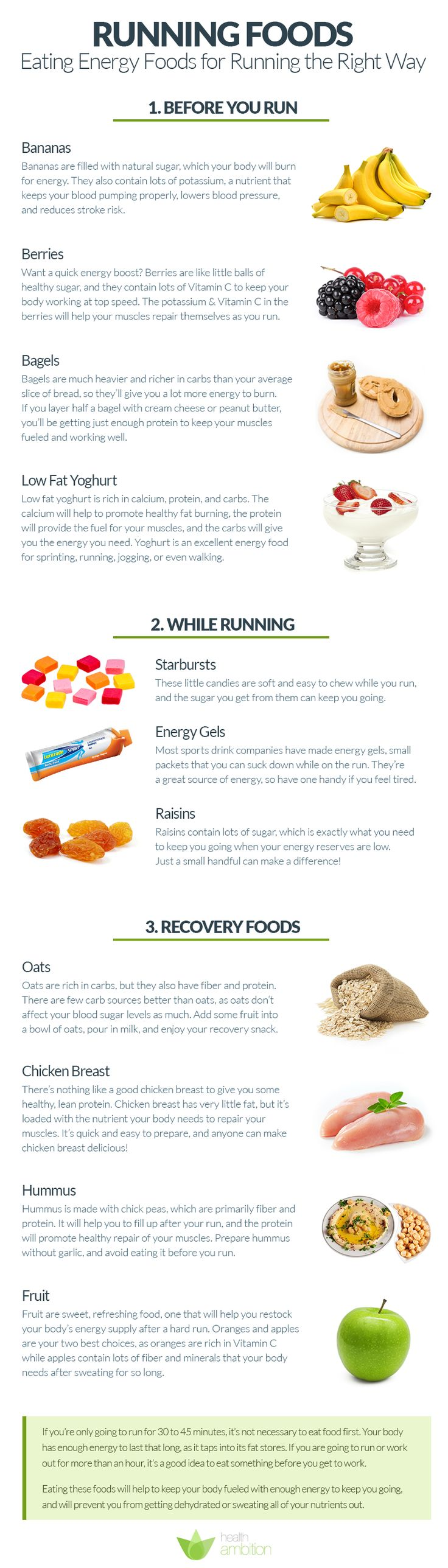 Running foods eating energy foods for running the right way
