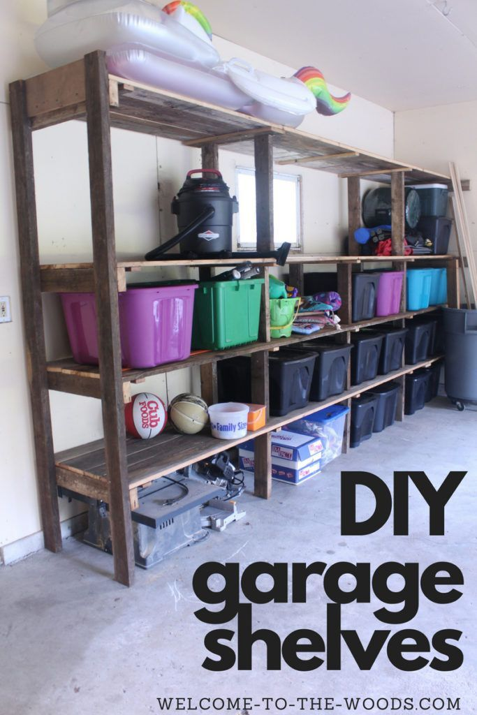 Diy Garage Shelving With Reclaimed Wood Diy Garage Garage