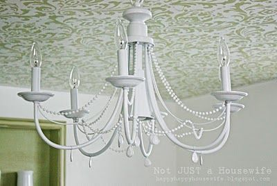 chandelier...this is a diy, maybe I can use it to convert our 60s ceramic and brass fixture to a mirrored finish
