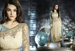 Indian Bollywood Straight Suit With Embrodiery