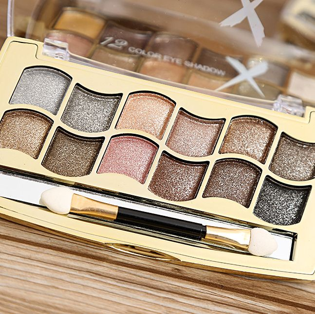 Professional Eye Makeup 12 Colors Eyeshadow Palette Gold Smoky Cosmetics Makeup Palette Diamond Bright Glitter Eye Shadow * This is an AliExpress affiliate pin.  View the item in details on AliExpress website by clicking the VISIT button