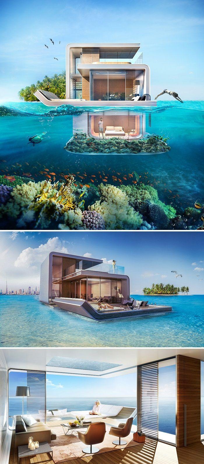Dubai schwimmende Luxus Villa schwimmende Seepferdchen