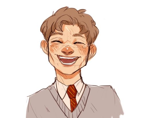 Remus---I love this so much, look at him, he's smiling and laughing and happy.