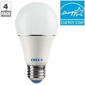 Cree 60W Equivalent Soft White (2700K) A19 Dimmable LED Light Bulb (4-Pack) SA19-08127MDFD-12DE26-1-14 at The Home Depot - Mobile