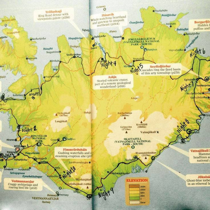 iceland map driving route ring road driving
