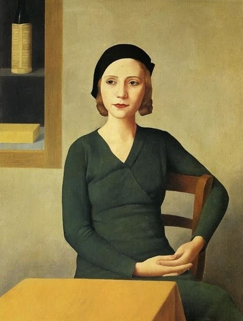Donna al Caffe, 1932 by Antonio Donghi, Italian (1897–1963)