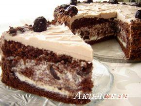 """""""Черный принц"""" торт с вишней"""