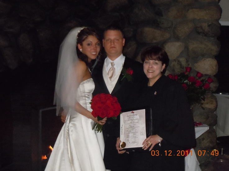 Me, with #Bride, Andrea, and #Groom, Billy, at their #wedding at Fairways at #Woburn Country Club.