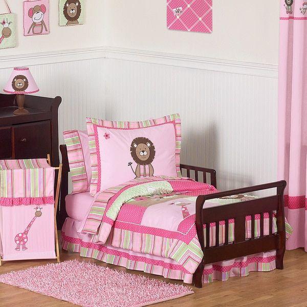 Sweet Jojo Designs Girl 5-piece Jungle Toddler Comforter Set