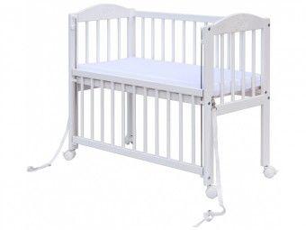 Dětská postýlka k posteli rodičů BABY Scarlett - bílá