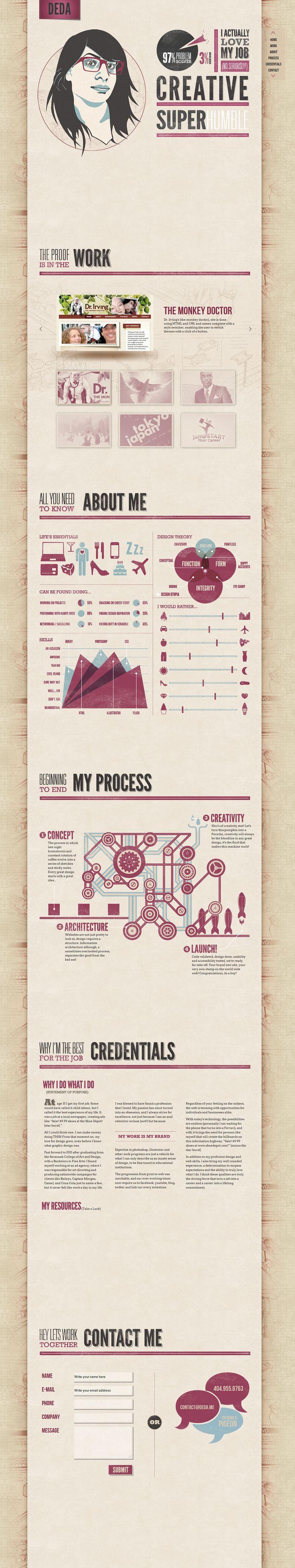 Creative Website Design - Personal Portfolio!