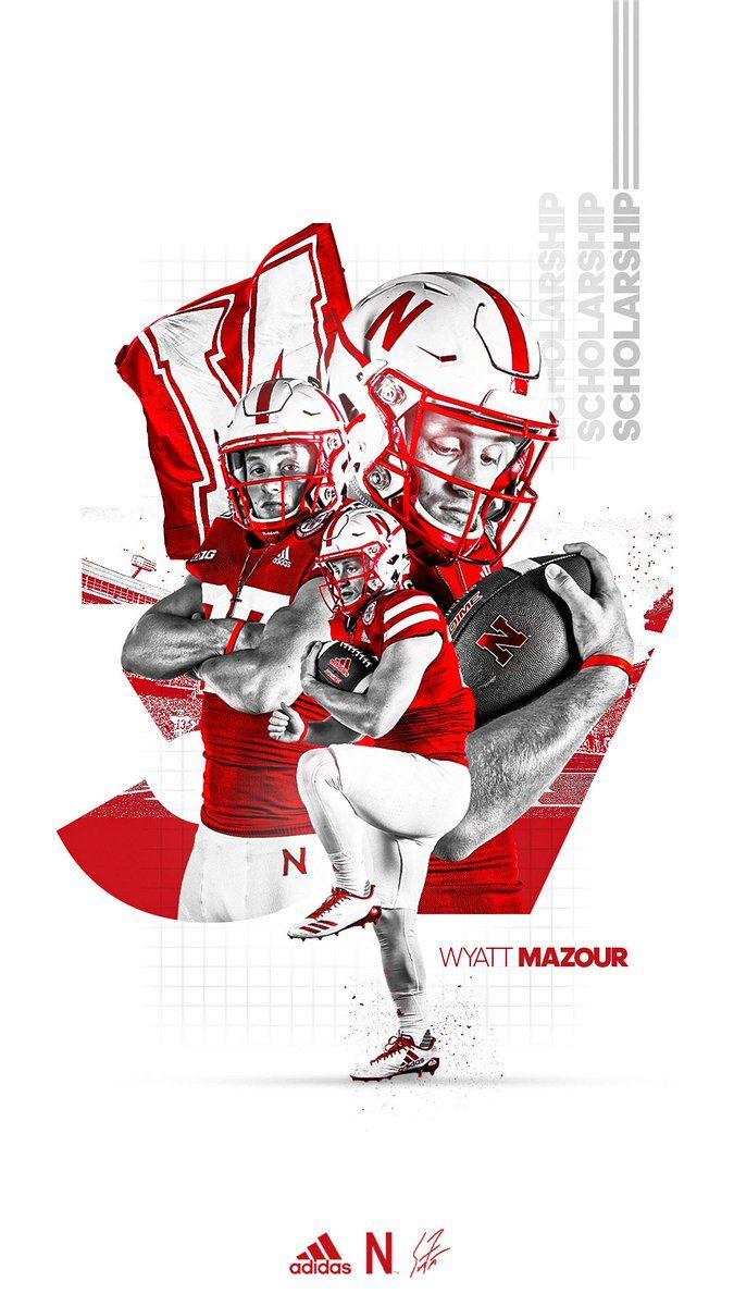 Nebraska In 2020 Sports Graphic Design Sports Design Layout Football Design
