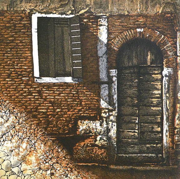 Castello etching Artist Sandi Rigby