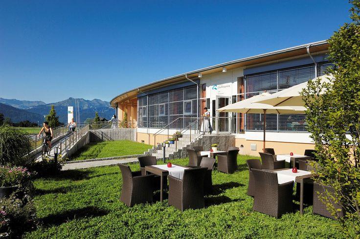 Vitalhotel Quellengarten: set amidst the hills of the Bregenzerwald. Wellness hotel in Lingenau/Bregenzerwald in Vorarlberg #visitvorarlberg #myvorarlberg
