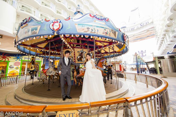Wedding photo_Royal Caribbean Cruise Allure Of The Sea/ウエディングフォト ロイヤル カリビアン クルーズ アリュー オブ ザ シー _AkiDemi Photography www.akidemi.com