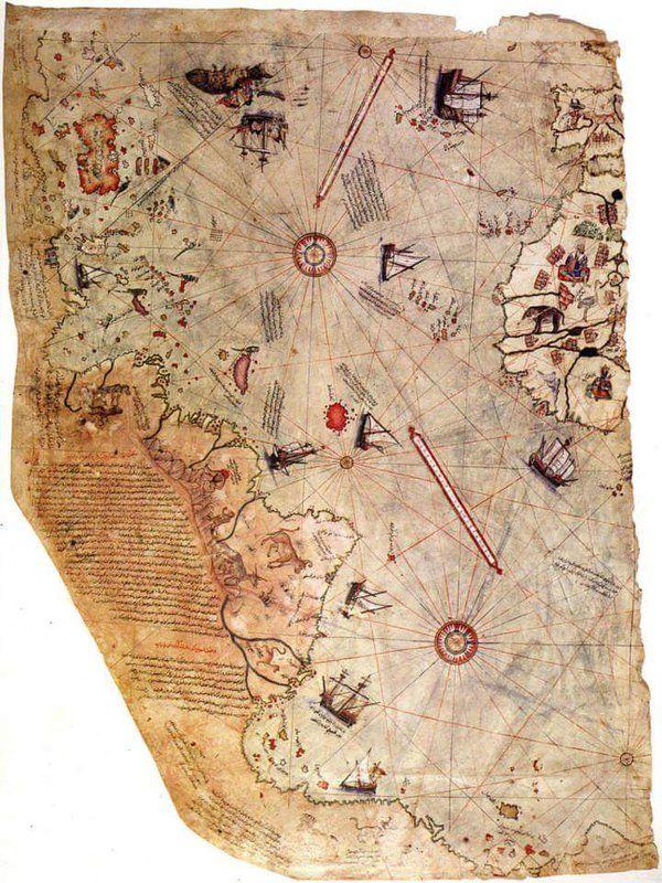 Piri Reis'in ilk Dünya Haritası'ndan... (1513) #birzamanlar #istanlook