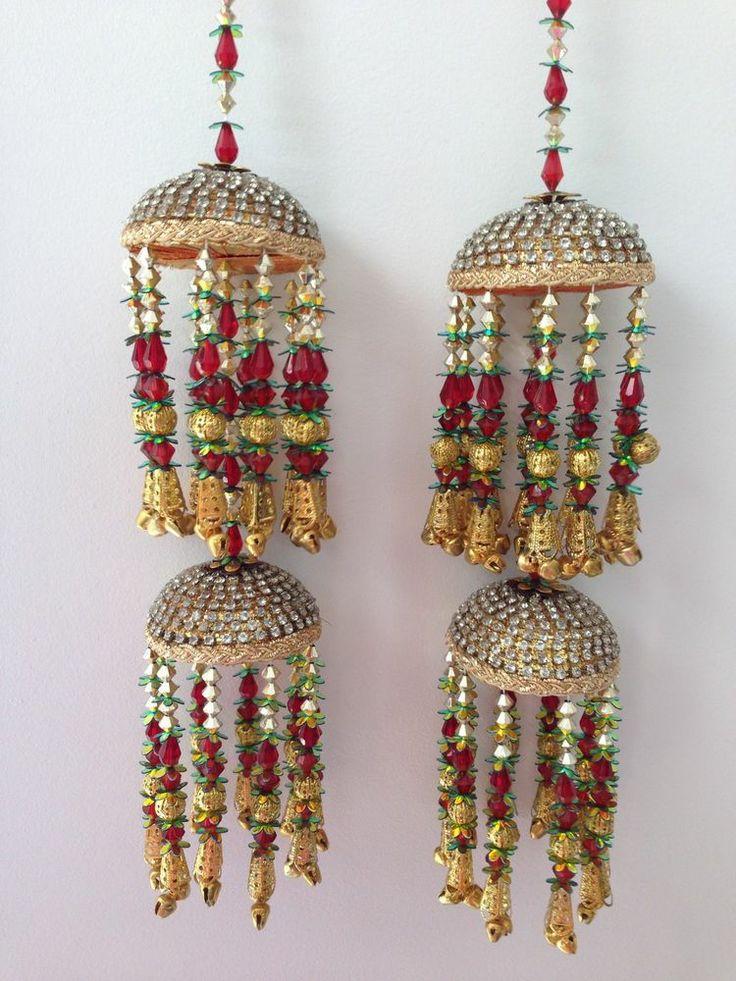 Amazing Indian Asian Wedding Bridal Kaleera Kalira - Red & Green KA04