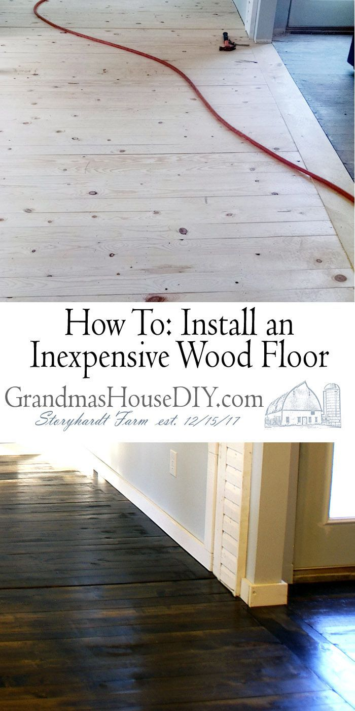Inexpensive wood floor that looks like a million dollars! Do it yourself!